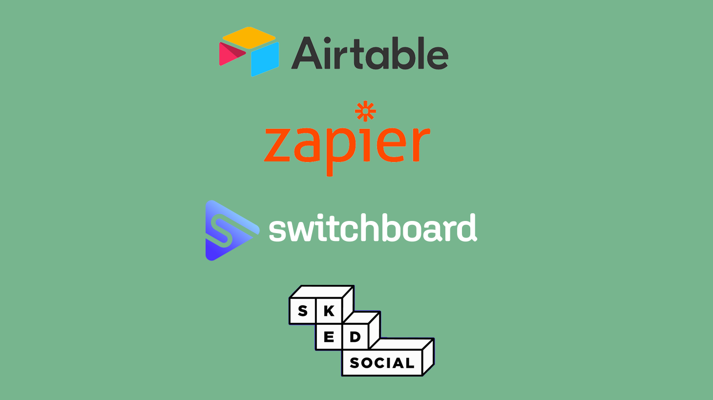 Automated quote image generation with Airtable, Zapier, and SkedSocial